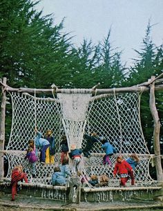 Macrame park, Bolinas, California, early 70s (images from native funk and flash - an emerging folk art by alexandra jacopetti with photographs by jerry wainwright, published by scrimshaw, 1974)