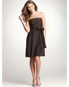 Ann Taylor...Short Brown Bridesmaid dress