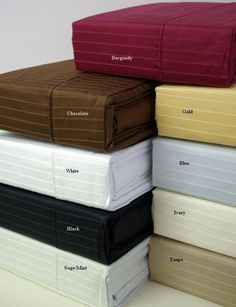 California King Pin Stripe 310 Thread count 100% Egyptian cotton Sheet sets $69.99 www.scotts-sales.com