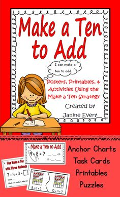 Make a Ten to Add: Making Ten Strategy Common Core support for working with the tricky strategy of Making Ten to Add.  #Makeaten