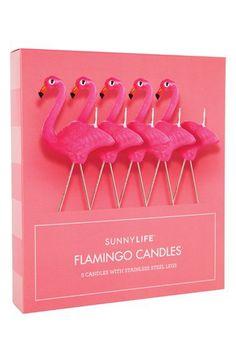 Sunnylife Flamingo Candles (Set of 5)   Nordstrom