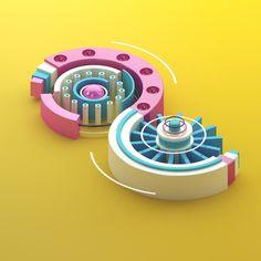 36 Days of Type - Updated by Ollie Hooper, via Behance  #C4D,#Cinema4D