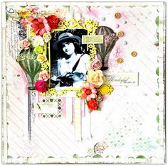 Blue Fern Studios: A couple of pages from Bente using Deja Vu and Montage collections.