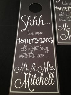 Wedding Welcome Bag-- cute! ESP with the last name -- great idea!