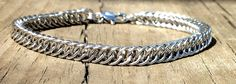 Chainmaille, Chain mail, Chainmail, Chain maille, Jewelry, Bracelet, Women, Handmade, Stainless Steel, Silver, 7 inch, 8 inch, Gothic, Chic by Faroutmaille on Etsy