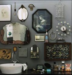 Bathroom curiosities.