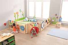 HABA Children's Room Partition Mirror/Magnet, 870184 in 2020 Church Nursery, Nursery Room, Kids Bedroom, Baby Room, Baby Playroom, Master Bedroom, Daycare Spaces, Home Daycare, Kid Spaces