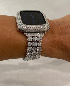 Bling Bling, Apple Watch Accessories, Silver Apples, Lab Diamonds, Silver Diamonds, Apple Watch Bands, Gold Bands, Crystal Rhinestone, Jewelery