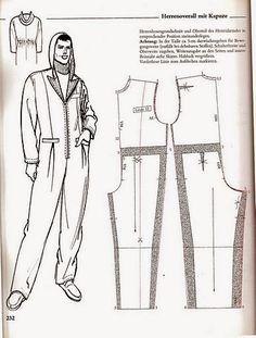 Fashion Sewing, Diy Fashion, Mens Fashion, Jumpsuit Pattern, Pants Pattern, Free Printable Sewing Patterns, Sewing Men, Modelista, How To Make Clothes