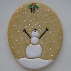 There are so many talented people here posting such beautiful cookies. Christmas Sugar Cookies, Christmas Sweets, Noel Christmas, Christmas Countdown, Christmas Goodies, Holiday Cookies, Christmas Baking, Bolacha Cookies, Galletas Cookies