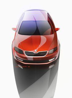 Skoda Octavia Transport Auto Sketch Red
