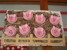 Pig Pen Craft - letter P preschool craft Farm Animals Preschool, Farm Animal Crafts, Pig Crafts, Farm Crafts, Animal Crafts For Kids, Camping Crafts, Preschool Crafts, Art For Kids, Diy And Crafts