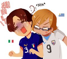 OHMYGOSH IT'S URUGUAY BITING ITALY I LOVE OUR FANDOM. I just love it with my whole heart.