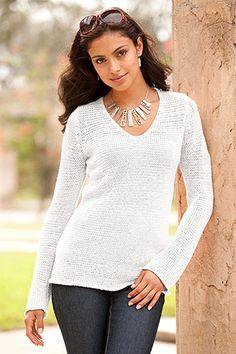 white summer sweater