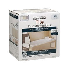 Tile Transformations Kit® Product Page, will use white/natural stone finish.