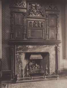 Chimneypiece in the Sessions House, Clerkenwell Green, where Dickens was once a cub reporter