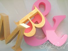 Wooden letters.