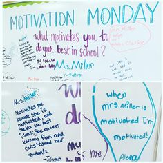 A little Monday motivation! When my students say I'm their motivation to do their best in school I know I'm in the right profession. They are my motivation to do my best too! Journal Topics, Journal Prompts, Daily Journal, Beginning Of School, Middle School, Daily Writing Prompts, Bell Work, Responsive Classroom, Classroom Community
