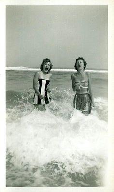 Vintage stripped sunbathing!