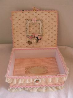 Beatiful Little Darlings Altered Art box by @Martica Gonzalez. We're celebrating our G45ers and their creations. Click to see more projects! Wonderful! #graphic45 #DIY