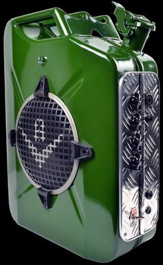 Gas tank amplifier is something I never thought about but now...hmmm V8 T.A.N.K 20W British Green