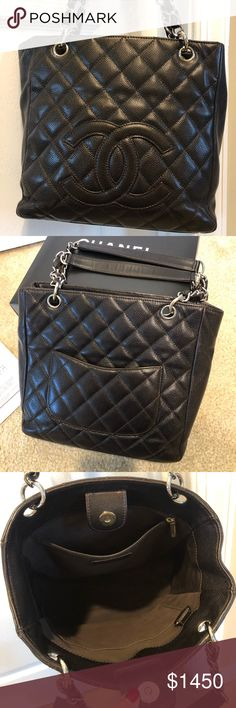 886379d9b62c Chanel PST shopping tote bag 100% AUTHENTIC CHANEL CAVIAR Leather