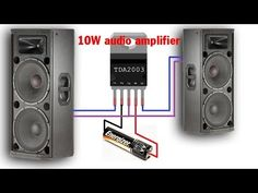 TDA2003 10W Hi-RES Audio Amplifier | Simple circuit diagram | Mạch âm ly - YouTube Home Electrical Wiring, Electrical Circuit Diagram, Electronic Circuit Projects, Electronic Engineering, Subwoofer Diy, Diy Tv Antenna, Diy Bluetooth Speaker, Speaker Amplifier, Speakers