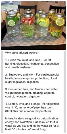Infused Water Deliciously healthy...