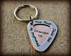The Best Grandpa Guitar Pick Hand Stamped by CharmletteDesigns, $18.00