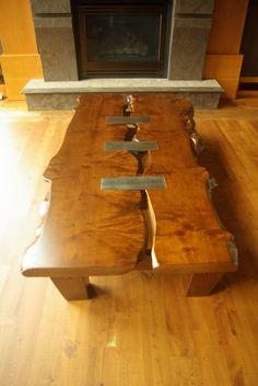 Custom Made Maple Live Edge Coffee Table