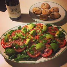Sund er fedt - Opskrifter: Spinat/tomat salat