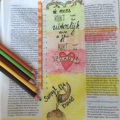 De mens kijkt naar het uiterlijk maar God kijkt naar het hart! Biblejournaling Craftbijbel  1Samuel