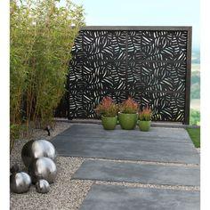 Backyard Privacy, Small Backyard Landscaping, Landscaping Tips, Corner Landscaping, Inexpensive Landscaping, Sloped Backyard, Fence Design, Patio Design, Garden Design