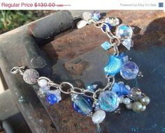 5th Annual Baby Sale Once in a Blue Moon Sterling Silver Charm Bracelet