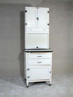 107 Vintage Kitchen Hoosier Cabinet On