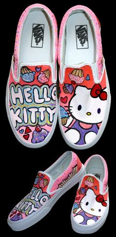 5a12bb251d0726 A commission for Hello Kitty Vans. Plus