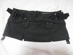 """LIP SERVICE Bio Threat II """"Survivalist"""" mini skirt #74-63 - black/black size L (size XL SOLD)"""