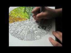 Color wheel doodle [timelapse] by Jamie hinog