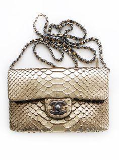 Chanel Python Handbag