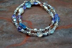 Winter's Whisper Beaded Bracelet