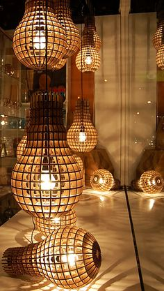 Wooden bulbs! kinda cool looking..not sure about putting them in my house though