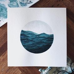 Poetic Ocean Watercolor Painting
