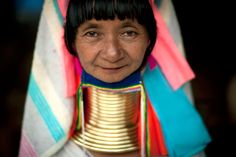 Kayan people , or long neck, are supposed to wear the brass wound spiral for 1000 years. Thailand