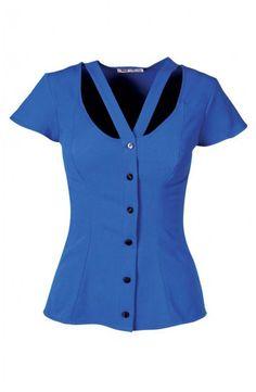 Crepe short sleeve blouse boob fit custom size around $40
