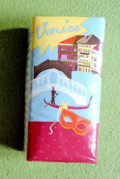 "Taschentücher ""Venice"" von Drogerie Rossmann +++ illustration design tissues handkerchiefs Venezia Rialto gondola gondoliere palaces palazzo palazzi mask"
