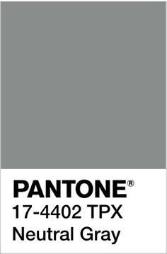 Pantone Fall 2017 ~ Navy Peony & Neutral Gray