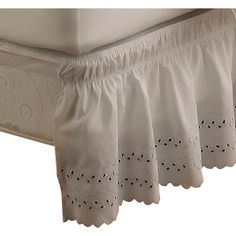 $26.99 - You'll love the EasyFit Wrap Around Eyelet Ruffled Bed Skirt at Wayfair - Great Deals on all Bed & Bath  products with Free Shipping on most stuff, even the big stuff.