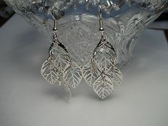 Silver Lacy Leaf Clusters ...made by Chubbychick