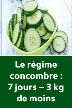 Le régime concombre : 7 jours – 3 kg de moins Yoga For Weight Loss, Fast Weight Loss, Weight Loss Plans, Health And Fitness Tips, Health And Nutrition, Health And Beauty, Fitness Workouts, Dieta Atkins, Sixpack Training