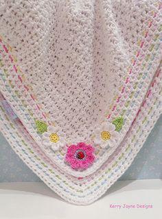 BABY CROCHET BLANKET Pattern Little Ladybird by KerryJayneDesigns